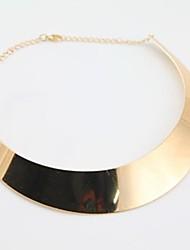 Frauen Punk Rock Style Silber Gold Decent Halskette
