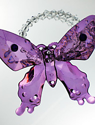 Perles de mariage de papillon Rond de Serviette Set de 6, acrylique Dia 4.5cm