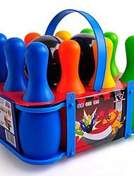 Bowling Game Set de jouets pour enfants multicolores de grande taille (10 bouteilles et 2 boules inclus)