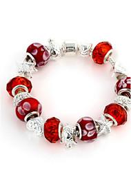 Cristal vermelho Strand Pulseira de 6,3 centímetros doces Mulheres (1 Pc)