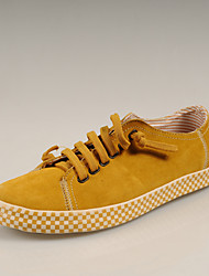 Simul Leather  Lacing Shoes (Yellow)