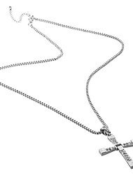 Lureme®Men's The Fast and the Furious Cross Pendant Necklace