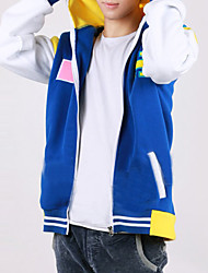 Inspired by Free! Haruka Nanase Anime Cosplay Costumes Cosplay Hoodies Color Block / Print Blue Long Sleeve Coat