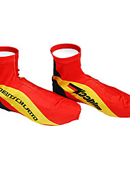 KOOPLUS - German National Team Polyester+Lycra Red Cycling Shoes Cover