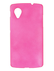 Simple Design Frosted Hard Case for LG NEXUS 5(Assorted Colors)