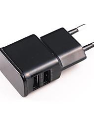 Универсальный двойной USB ЕС Plug адаптер переменного тока для IPhone / IPad / IPod (100 ~ 240)