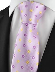 Verifica formale Cravatta Wedding Souvenir modello viola d'oro Mens Tie
