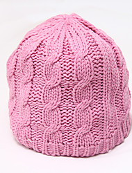 Chunyazi Lässige Warm Solid Color Hat (Pink)