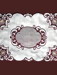 Beige / Rot / Gold Polyester Rechteckig Platztdeckchen