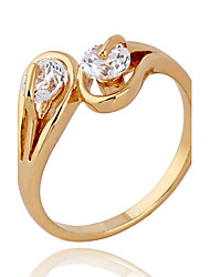 XINXIN Frauen-18K Gold Zirkon Ring J1133