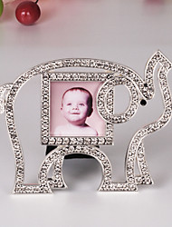"3""H Modern Style Elephant Metal Picture Frame"