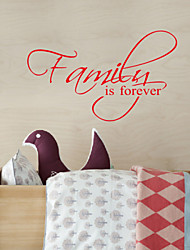 Mots famille est Forever amovible Stickers muraux sticker mural