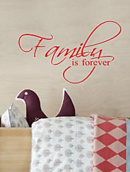 Слова Семья Is Forever Съемный Наклейки на стены стикер стены