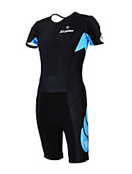 KOOPLUS - Triathlon Black Short Sleeve Wear and Shorts Conjoined Cycling Clothing