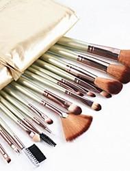 16pcs pinceaux de maquillage Set artificielle Fibre cosmétiques kit d'outils
