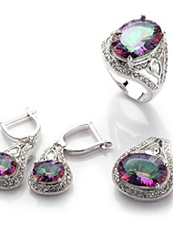 Jewelry Set Women's Birthday / Gift / Party Jewelry Sets Alloy Cubic Zirconia Rings / Earrings Silver