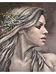 Retrato de pintados à mão pintura a óleo Beleza