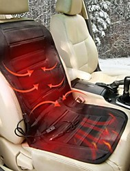 TIROL Universal  Winter Car Heated Seat Cushion Hot Cover Auto 12V Heating Warmer Pad- Black