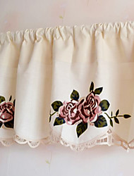 "Elegant Country Blooming Rose Pattern Valance (16""L×59""W)"