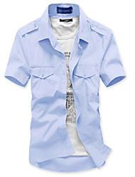 мужской стильный сплошной цвет тонкий рубашка (согласно не входит, этикетка шеи случайный)