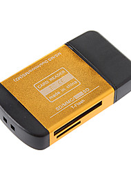 All in One USB 2.0 Memory Card Reader (Rot / Schwarz / Lila / Gold)