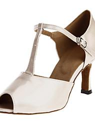 Non Customizable Women's Dance Shoes Latin/Ballroom Silicone Customized Heel White