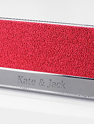 Personalizado suporte de metal gravado cartão de visita vermelho (dentro de 10 caracteres)