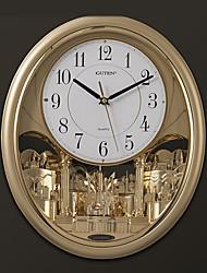 """17 """"H Современный стиль Мелодия & Свет управлением настенные часы с маятником"""