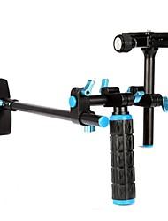 Computadora de mano cámara DSLR Sistema estabilizador para Rig hombro para videocámara DV