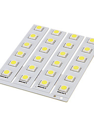 DIY 1W 6x5050SMD 30-60LM 5500-6000K Cool White Light LED PCB Board (12V)