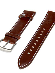 Heren Genuine Leather Watch Band (Brown)