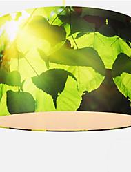 foglie modello pendente, 1 luce, tessuto del ferro di stile europeo di pittura