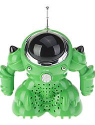 Roboter-Style-Lautsprecher mit FM-Radio und USB-Anschluss (Grün)