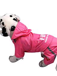 Собаки Дождевик Красный / Желтый / Розовый Одежда для собак Весна/осень Полиция/армия / Буквы и цифры