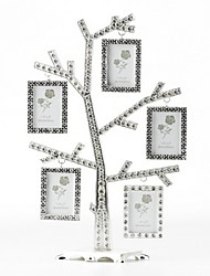 "7""H Euro Style Metal Tree Shape Picture Frame"