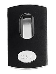 Personnalisé Porte Noire évidé en métal cartes de visite gravés (moins de 10 caractères)