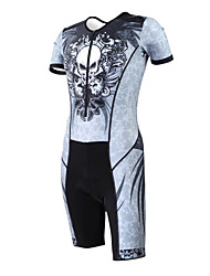 KOOPLUS - Triathlon Black Spider Skeleton Short Sleeve Wear and Shorts Conjoined Cycling Clothing
