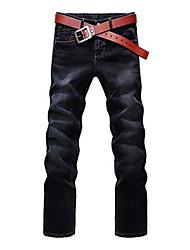 Uomo All-Incontro Jeans di colore solido (senza cintura)