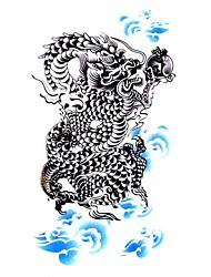 5 Pcs Dragon Waterproof Temporary Tattoo(10.5cm*20.5cm)HM058