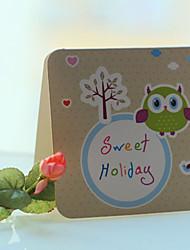 Owl pattern di vacanza Greeting Card - set di 12