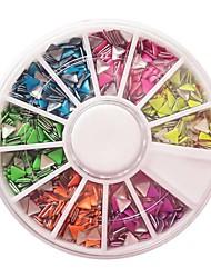 Decoraciones del clavo de 12 colores fluorescentes Triángulo Rivet