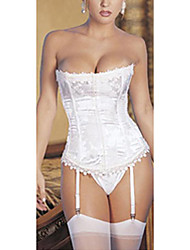 Women's Sexy Strapless Corset & Gartered Lingerie With G-Strings