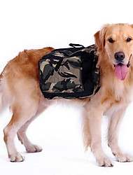 Собаки Рюкзак Одежда для собак Спорт камуфляж Зеленый
