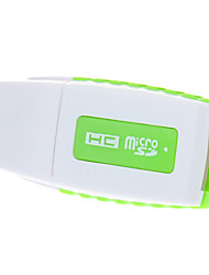 USB 2.0 Memory Card Reader (Green)