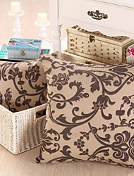 Floral Classique Brown Polvester oreiller avec insert