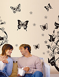 Flowers And Butterflies Removable Wall Decor Wall Stickers