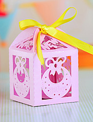 Bow Laser Cut Favors Box for Baby Shower - Set of 12 (More Colors)