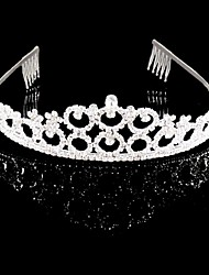 Women's Rhinestone / Crystal Headpiece-Wedding / Special Occasion Tiaras Silver / Clear