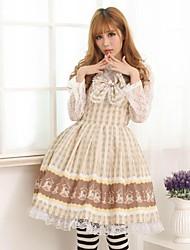 Troyanos chocolate Lolita bastante dulce princesa vestido