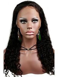"Acessível 16 Lace Front ""espanhol onduladas indiano de 100% Remy cabelo humano Lace Wig-5 cores para escolher"